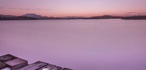 Frozen Pier Sunrise